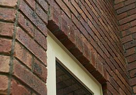 耐久性のあるレンガの外壁