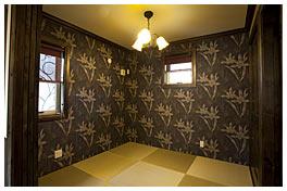 プライベートルームに併設された和室