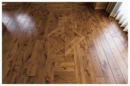 床材の張り方をアレンジ
